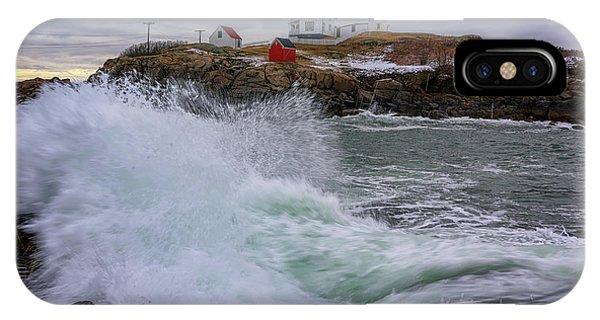 Navigation iPhone Case - Churning Seas At Cape Neddick by Rick Berk