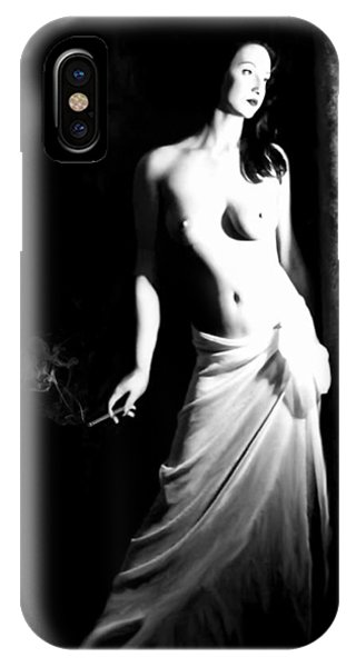 Cigarette Break - Self Portrait IPhone Case