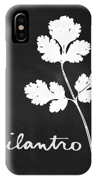 Leaf iPhone Case - Cilantro Black And White- Art By Linda Woods by Linda Woods