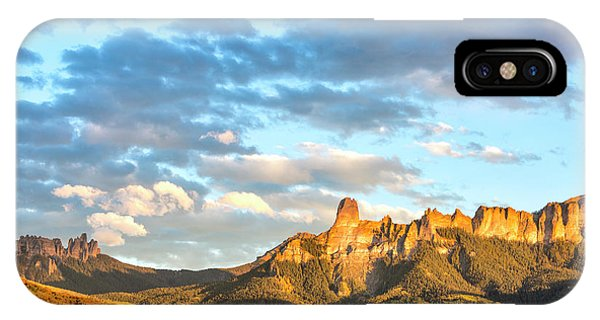 IPhone Case featuring the photograph Cimarron Sunset In Autumn by Denise Bush