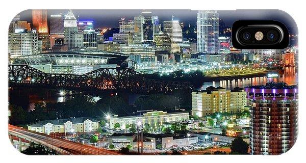 Cincinnati And Covington Collide IPhone Case