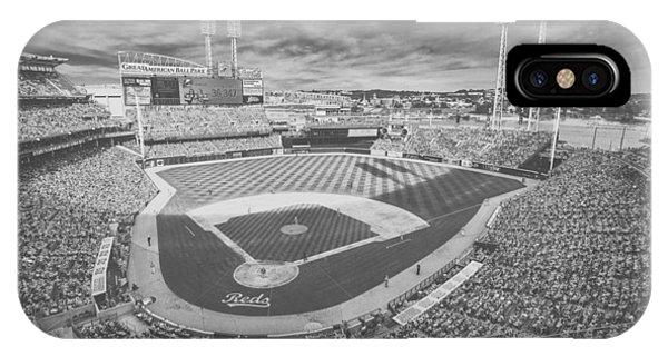 Cincinnati Reds Great American Ballpark Creative 6 Black White IPhone Case