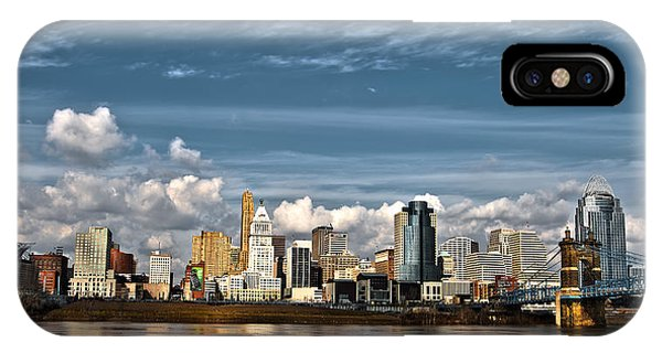 Cincinnati Skyline Hdr IPhone Case