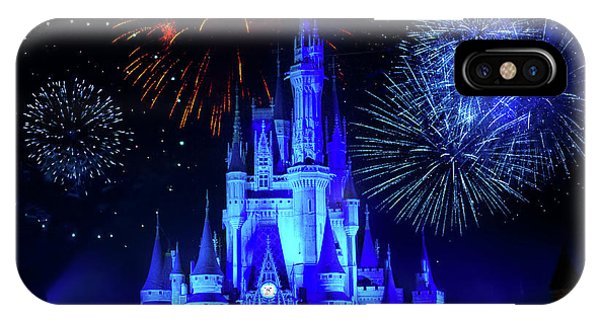 Cinderella Castle Fireworks IPhone Case
