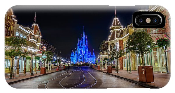 Cinderella Castle Glow Over Main Street Usa IPhone Case