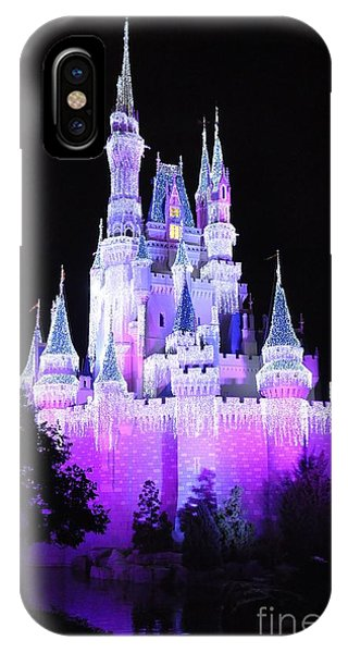 Cinderella's Holiday Castle IPhone Case