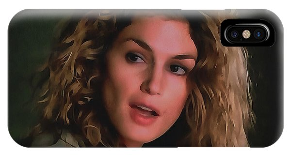 Mtv iPhone Case - Cindy Crawford Collection - 1 by Sergey Lukashin