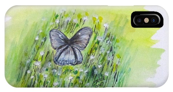 IPhone Case featuring the painting Cindy's Butterfly by Clyde J Kell