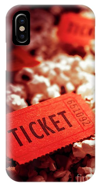 Event iPhone Case - Cinema Ticket On Snackbar Food by Jorgo Photography - Wall Art Gallery