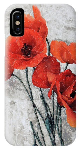 Poppies iPhone Case - Cinque Papaveri by Guido Borelli