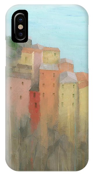 IPhone Case featuring the painting Cinque Terre by Steve Mitchell