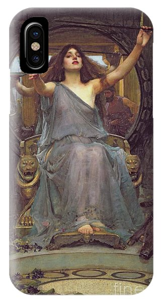 Staff iPhone Case - Circe Offering The Cup To Ulysses by John Williams Waterhouse