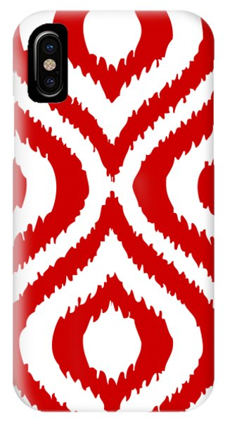 Circle And Oval Ikat In White T02-p0100 IPhone Case