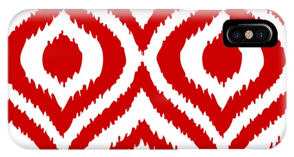 For iPhone Case - Circle And Oval Ikat In White T02-p0100 by Custom Home Fashions