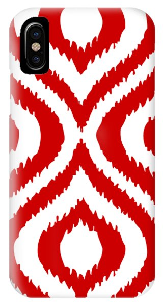 Holidays iPhone Case - Circle And Oval Ikat In White T02-p0100 by Custom Home Fashions