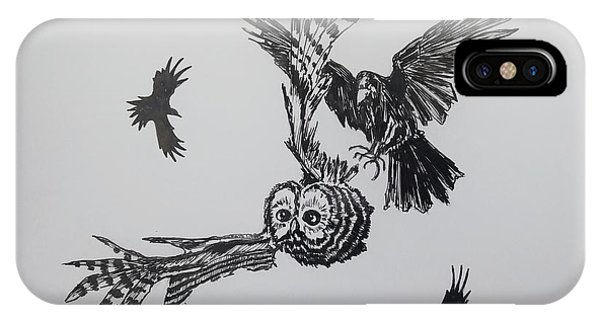 Raven iPhone Case - Circling by John Parish