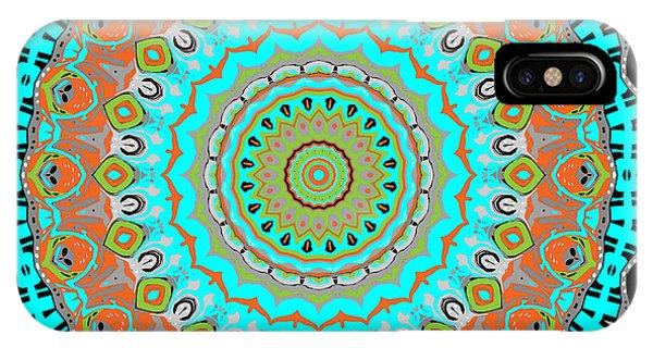 IPhone Case featuring the digital art Circular Garden by Joy McKenzie