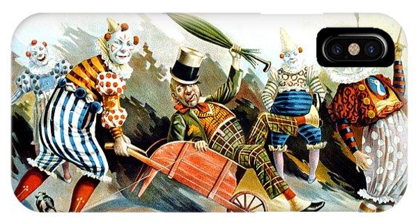 Advertising iPhone Case - Circus Clowns - Vintage Circus Advertising Poster by Studio Grafiikka