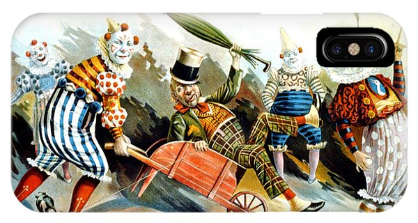 Circus Clowns - Vintage Circus Advertising Poster IPhone Case