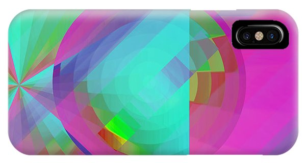 IPhone Case featuring the digital art Circus Multiforms Bright by Joy McKenzie