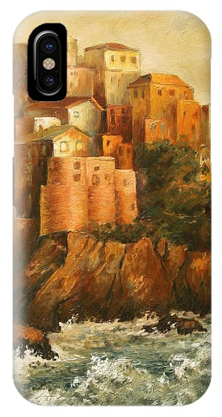 Cinque Terre Lerici Italia Painting IPhone Case