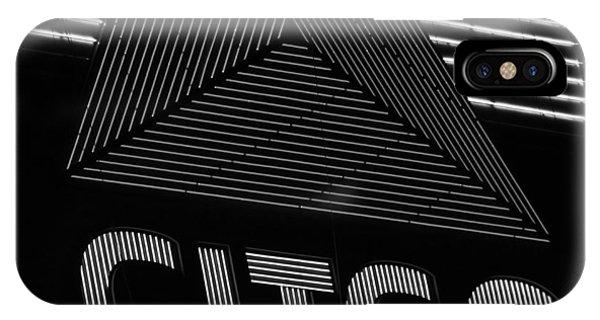 Citgo Sign Closeup Boston Ma Black And White IPhone Case