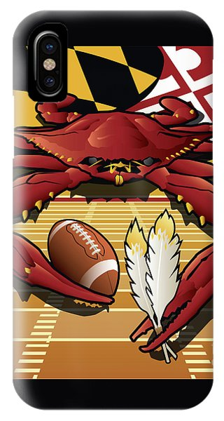 Citizen Crab Redskin, Maryland Crab Celebrating Washington Redskins Football IPhone Case