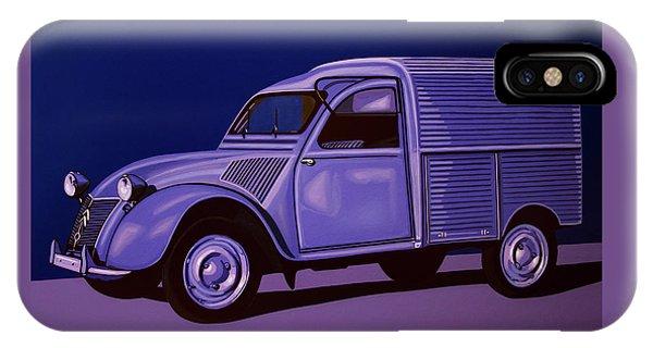 Estate iPhone Case - Citroen 2cv Azu 1957 Painting by Paul Meijering