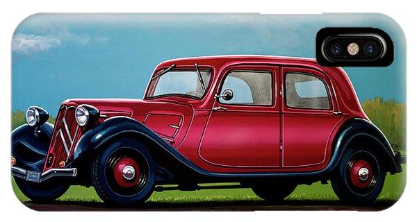 Estate iPhone Case - Citroen Traction Avant 1934 Painting by Paul Meijering