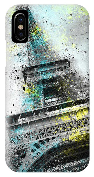 City-art Paris Eiffel Tower IIi IPhone Case