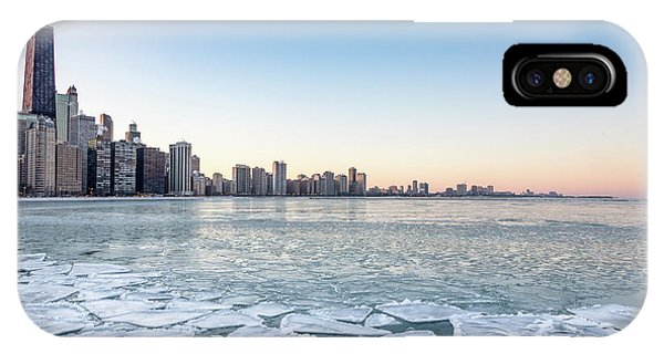 City By The Frozen Lake IPhone Case
