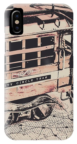 Attraction iPhone Case - City Circle Street Artwork by Jorgo Photography - Wall Art Gallery