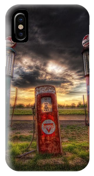 City Garage Sunset IPhone Case
