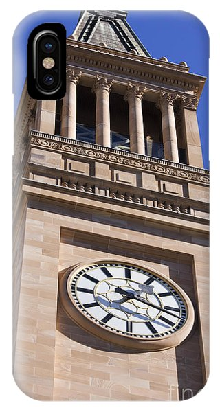 Qld iPhone Case - City Hall Clock Tower by Jorgo Photography - Wall Art Gallery