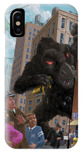 City Invasion Furry Monster IPhone Case