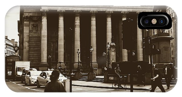 IPhone Case featuring the photograph City Life On London Streets by Jacek Wojnarowski