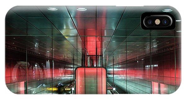 City Metro Station Hamburg IPhone Case
