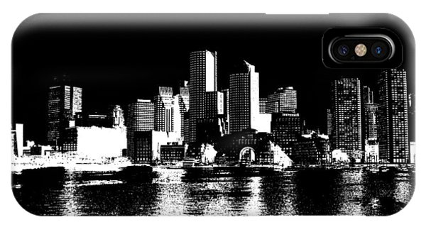 Ben Affleck iPhone Case - City Of Boston Skyline   by Enki Art