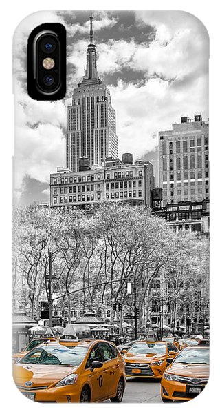 Old Building iPhone Case - City Of Cabs by Az Jackson