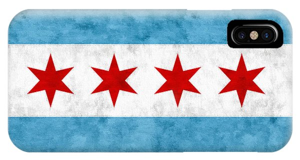 Texture iPhone Case - City Of Chicago Flag by Christopher Arndt