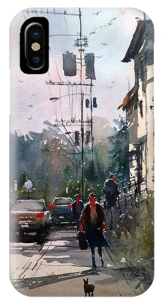 City Sidewalk IPhone Case