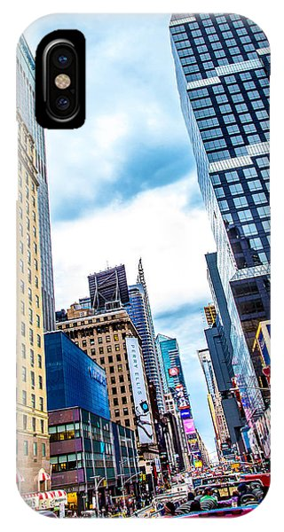 Times Square iPhone Case - City Sights Nyc by Az Jackson