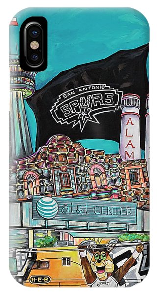 The Alamo iPhone Case - City Spirit by Patti Schermerhorn