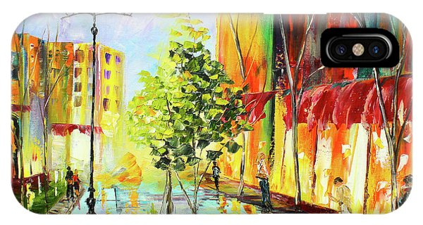 IPhone Case featuring the painting City Street by Kevin Brown