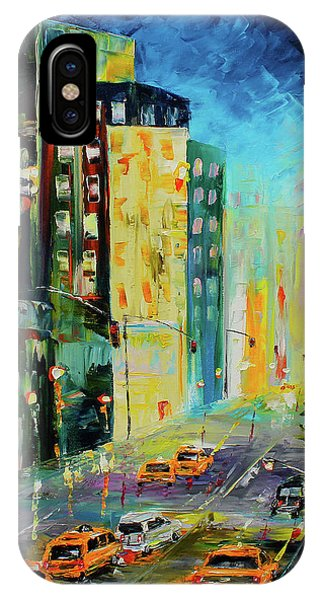IPhone Case featuring the painting City Streets by Kevin  Brown