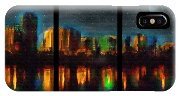 City Under A Blue Moon IPhone Case