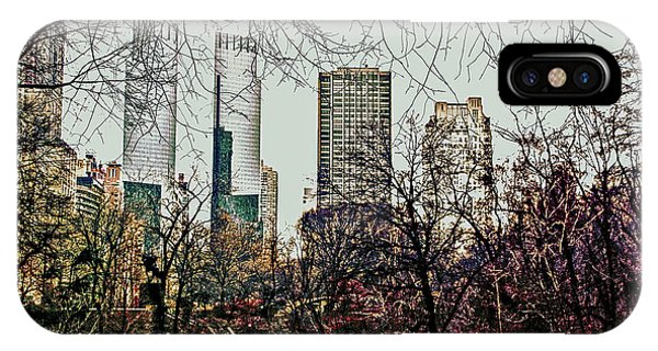 City View From Park IPhone Case