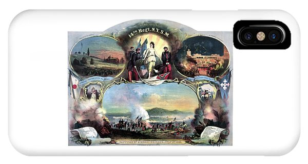 Military iPhone Case - Civil War 14th Regiment Memorial by War Is Hell Store