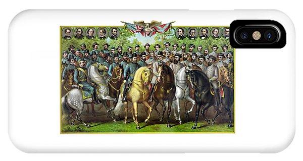 Civil War Generals And Statesman IPhone Case