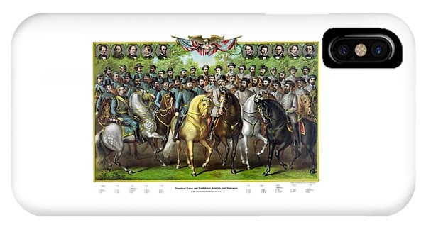 Civil War Generals And Statesman With Names IPhone Case
